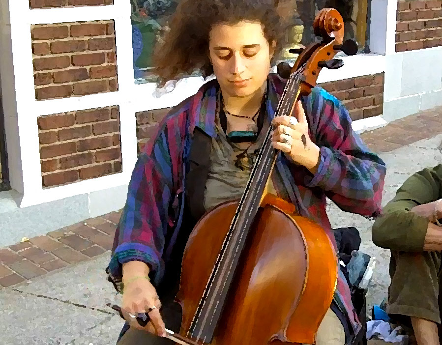"Anna Trevor puts a cello spin on ""Old Joe Clark"""