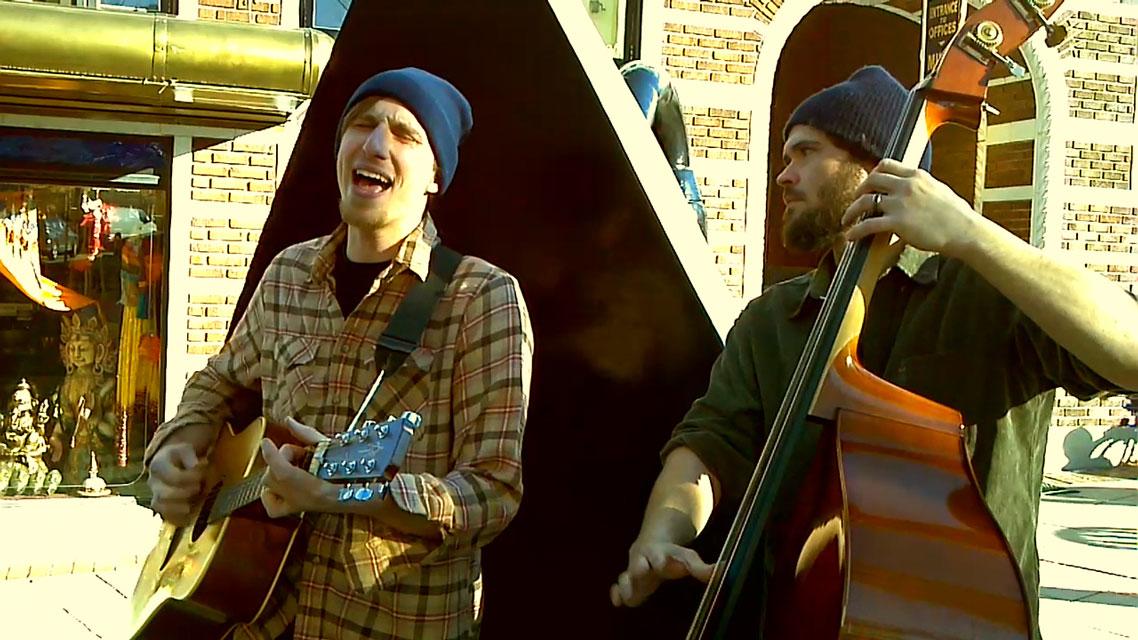 """Busk Break: The Asheville Waits Band covers """"Jockey Full of Bourbon"""""""
