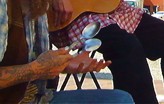 """Jimbo Lockhart and Abby the Spoon Lady perform """"Cluck Old Hen"""""""